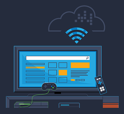 Connected TV devices illustration